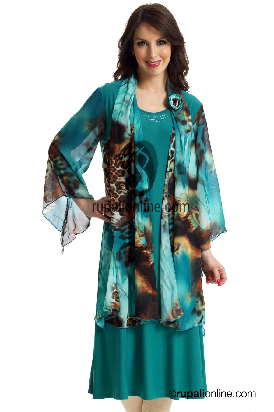Exclusive Tunics/Kurtis Collection 2013   Rupali's Summer Collection 2013   Embroidered Neckline ...