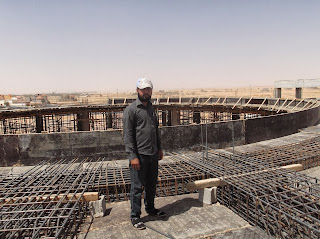 Construction work in Saudi Arabia