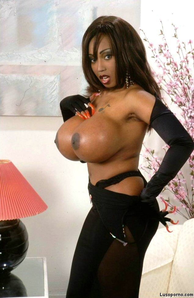 Black ebony big tits