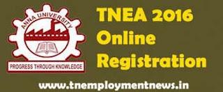 TNEA 2016 Online Registration for BE / BTECH
