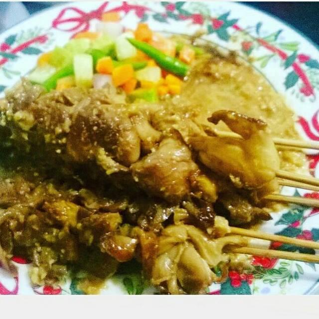 Resep sate jamur bumbu kacang mete ala rumah makan ciwidey