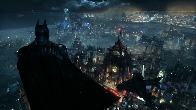 Batman Overlooking Gotham Wallpaper Engine