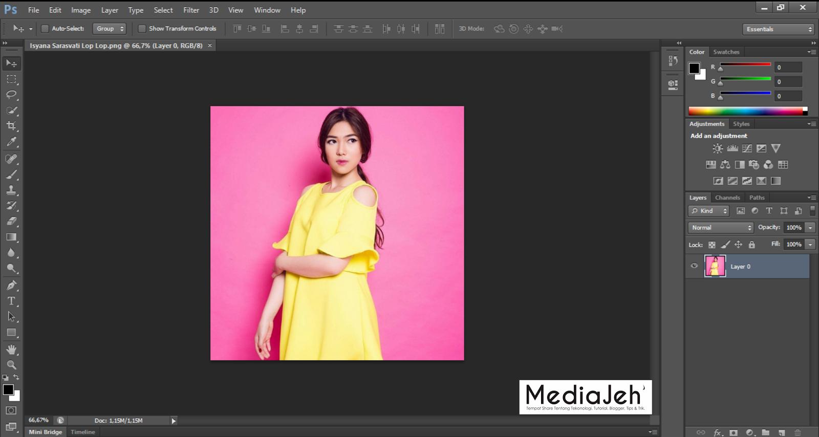 Cara Memotong Gambar Dengan Pen Tool Di Adobe Photoshop Mediajeh