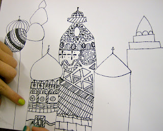 Zilker Elementary Art Class 4th Amp 5th Grade Russian Architecture Drawings