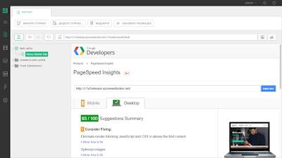 Результат анализа страницы с помощью Google Page Insights в Composite C1 CMS 5.0