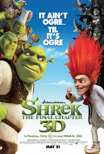 Poster of Shrek 4 (2010) 720p Hindi BRRip Dual Audio Full Movie Download