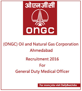 ONGC Ahmedabad Job