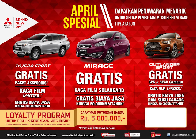 Program penjualan Mitsubishi April 2017