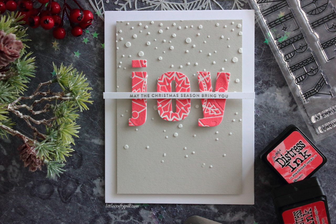 Little Crafty Pill: One Stencil, Two Christmas Cards