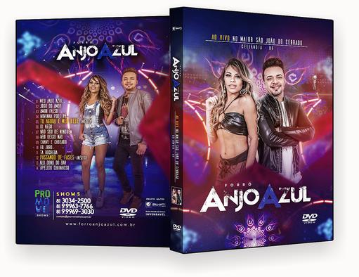 FORRO ANJO AZUL AO VIVO DVD-R – CAPA DVD