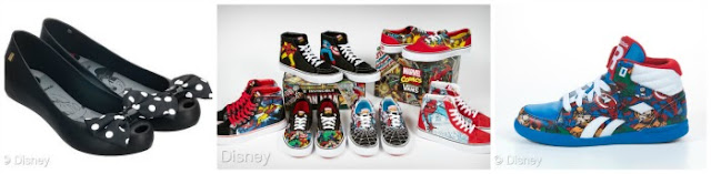 Melissa Ultragirl Minnie Flats, Vault by Vans x OG Classics Disney Collection and Vans x Marvel Collection.