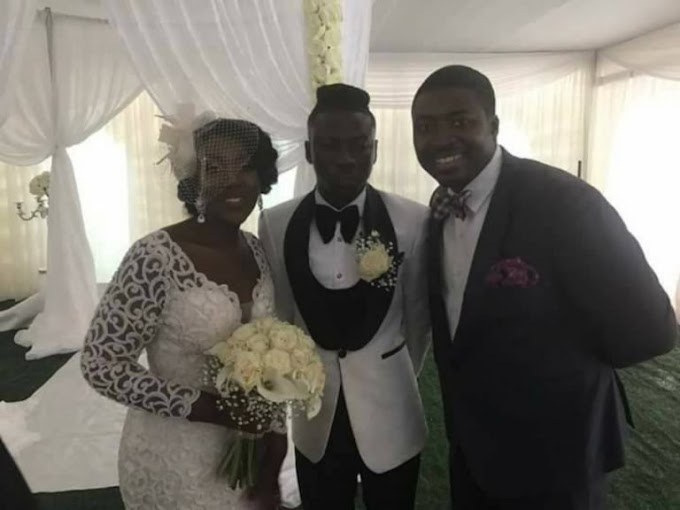 Photos + Video from Stonebwoy & Louisa's white wedding
