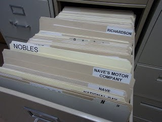 Vertical Files in Archive