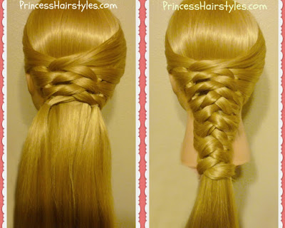 Zig Zag woven braid. Half up or full ponytail hairstyle.