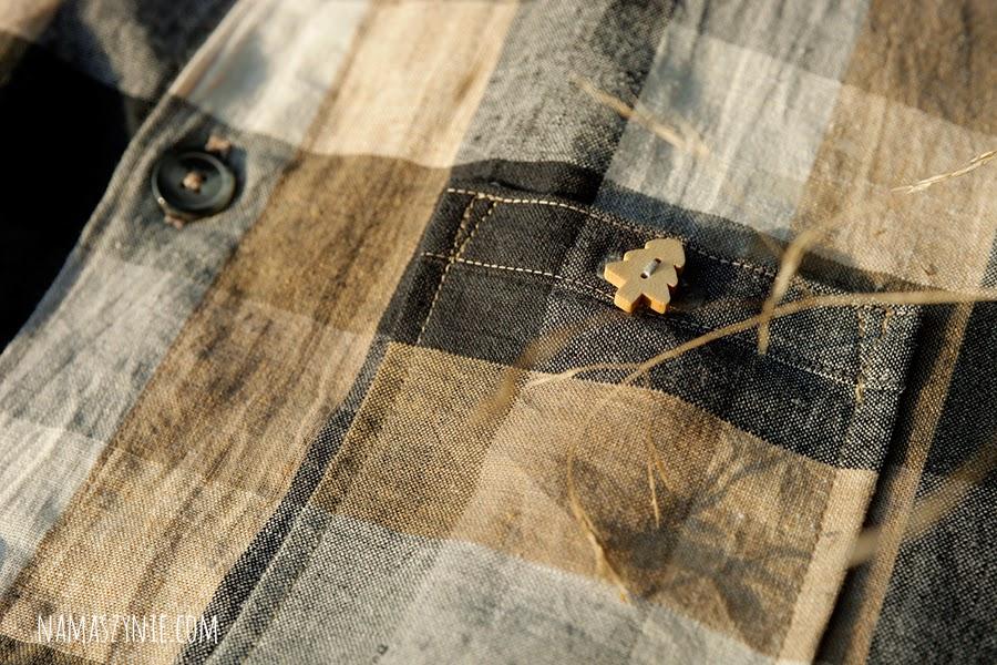 dla panów, guzik drewniane, Koszula męska, len, na guziki, na wymiar, na zamówienie, z kołnierzykiem,
