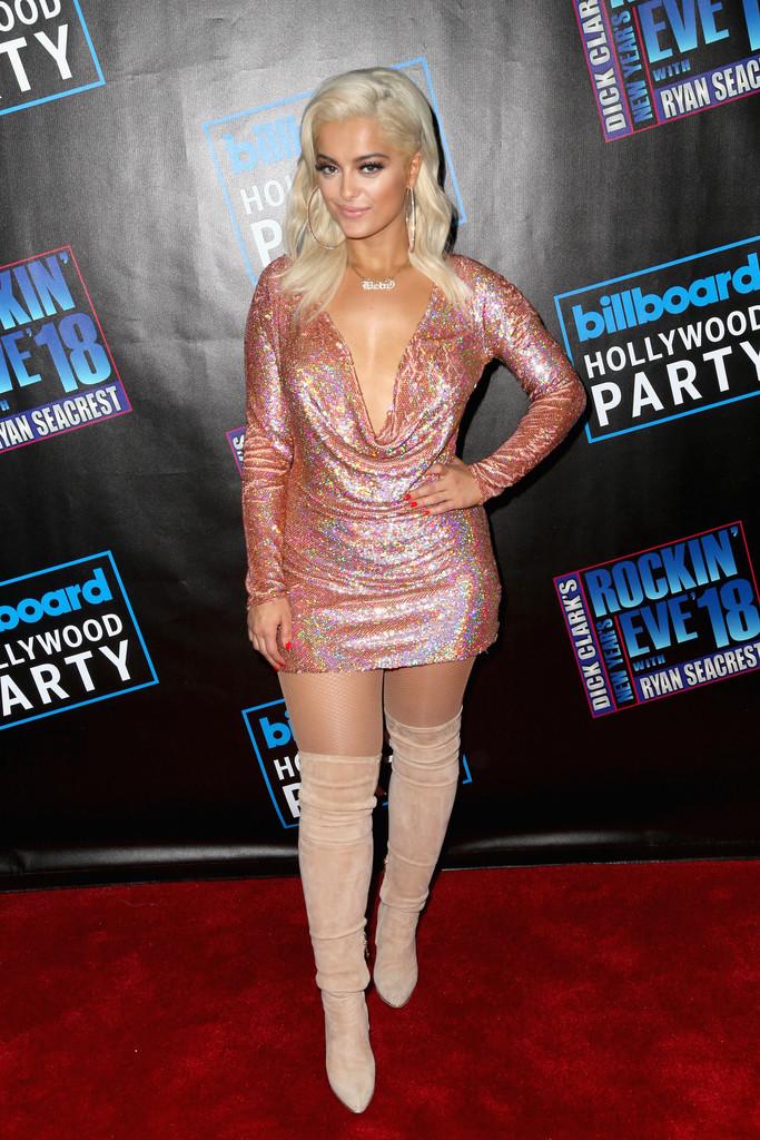 Bebe Rexha Posing at Dick Clark's New Year's Rockin' Eve