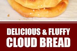 Delicious & Fluffy Cloud Bread #breadrecipes #glutenfree