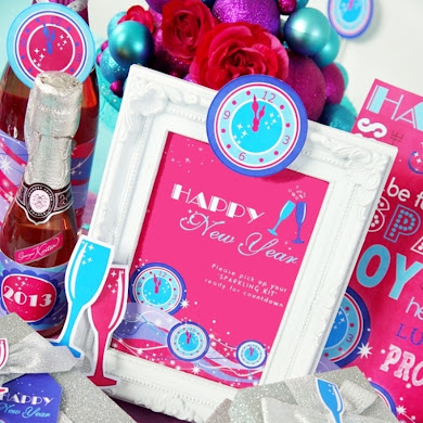 Glam Pink New Year's Eve Party & Free Printables