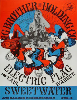 1968 Big Brother & The Holding Company, Electric Flag and Sweetwater performing at the Earl Warren Showgrounds, Santa Barbara, California.