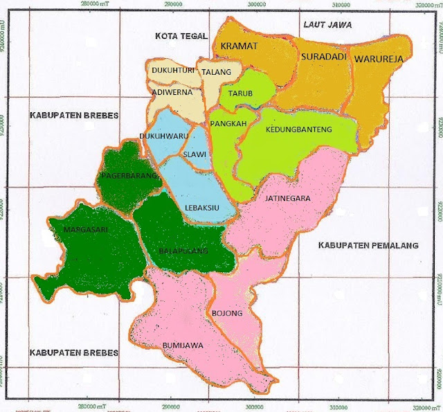 Peta Kabupaten Tegal