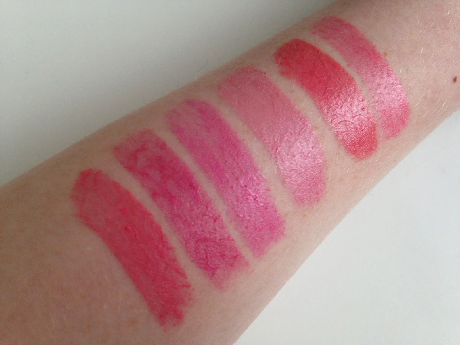 High End Lipstick Swatches
