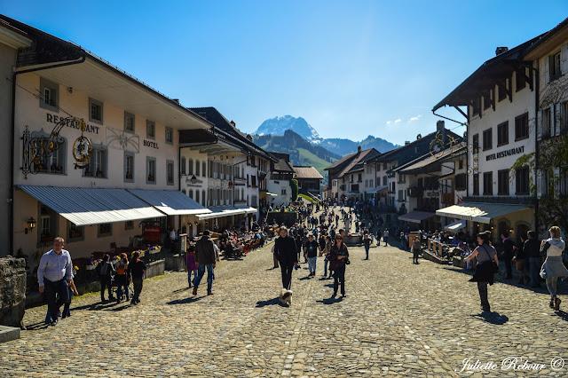 Village de Gruyères en Suisse