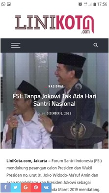 FSI: Tanpa Jokowi, Tak Ada Hari Santri Nasional