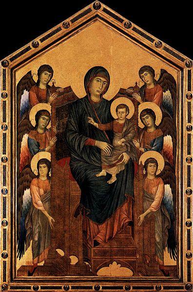 Cimabue Madonna Enthroned With Angels And Prophets : cimabue, madonna, enthroned, angels, prophets, History, Blogger:, Cimabue,, Giotto, Duccio-, Comparison, Three, Madonnas