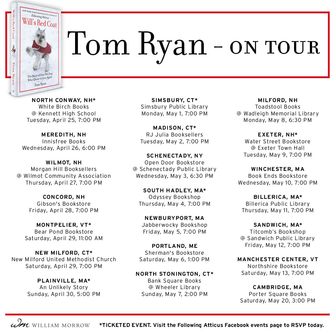 The Adventures of Tom & Atticus: The Will's Red Coat Book Tour