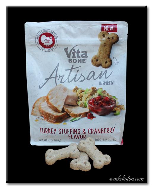 Vita Bone Artisan Inspired Turkey Stuffing & Cranberry Flavor Dog Treats