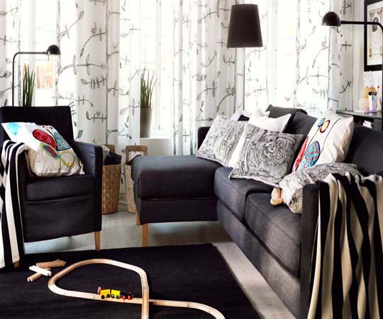 Interior and Furniture : 2013 IKEA living room interior design and ...