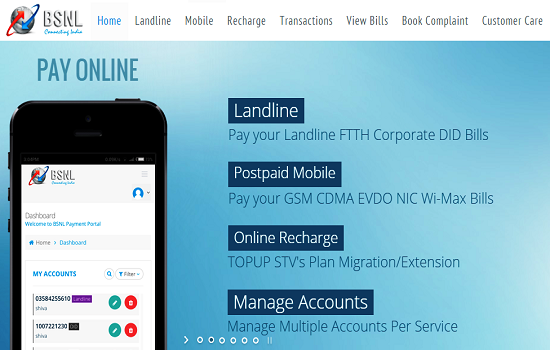 BSNL to launch Online Recharge and Top Up facility for its Prepaid CDMA, EVDO and WLL customers through its Official Payment Portal
