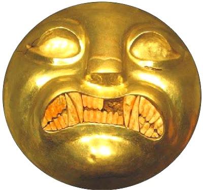Foto de la Mascarilla de oro de Lambayeque