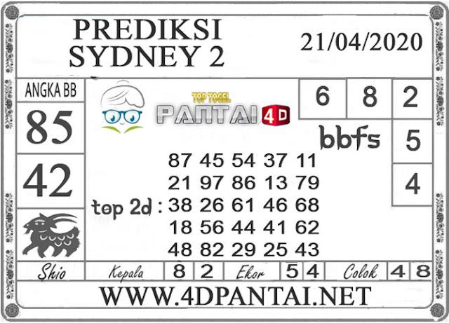 PREDIKSI TOGEL SYDNEY 2 PANTAI4D 21 APRIL 2020