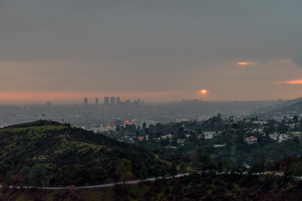 los angeles california panoramic view of the city image