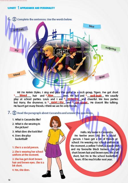 7. Sınıf İngilizce Pantera Yayınları Çalışma Kitabı Cevapları