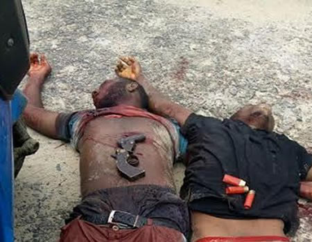 Graphic: Police kill 3 armed robbers in Warri, Delta State