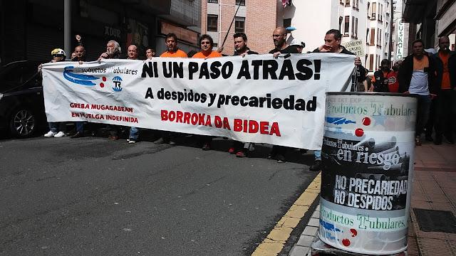 manifestación trabajadores Productos Tubulares