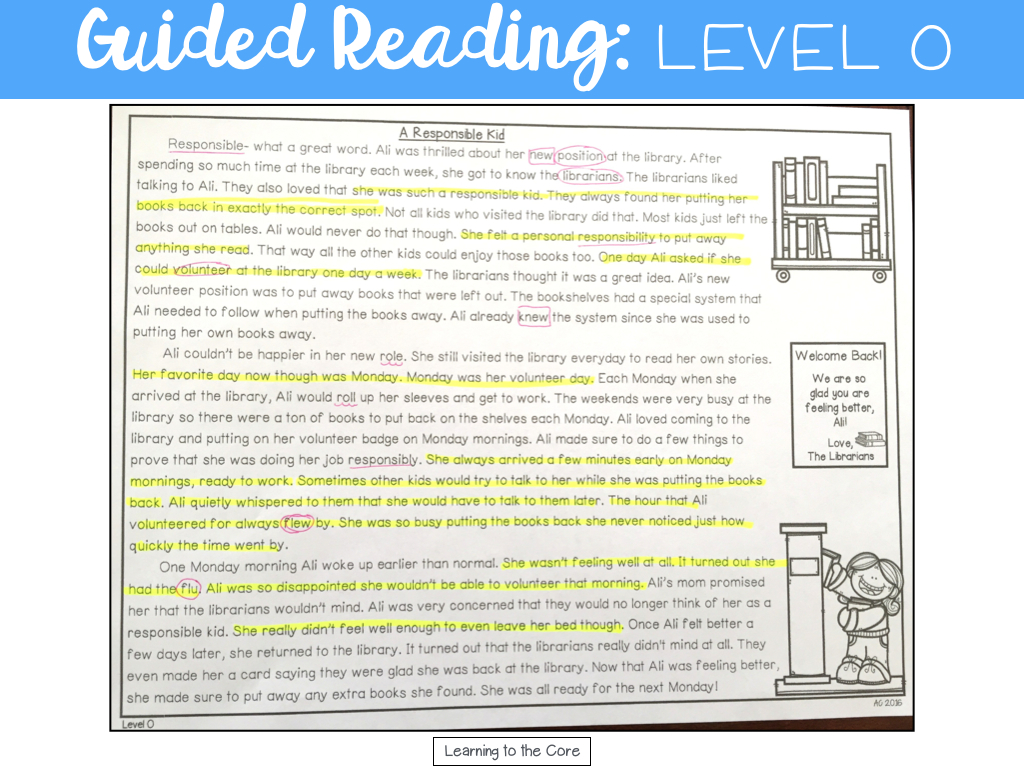 Guided Reading Passages Levels N P Learning To The Core