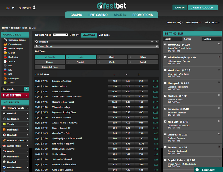 Fastbet Offers