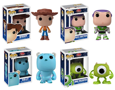 Disney Pop! Vinyl Figures Wave 1 - Woody, Buzz, Sully & Mike
