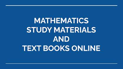 STUDY MATERIALS | MATHEMATICS - LATEST SSLC - HSC - NEET - TNPSC - TRB -TET  STUDY MATERIALS AND TEXT BOOKS ONLINE | DOWNLOAD