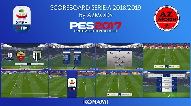 PES 2017 New Serie A Scoreboard 2018/19 dari Az Mods