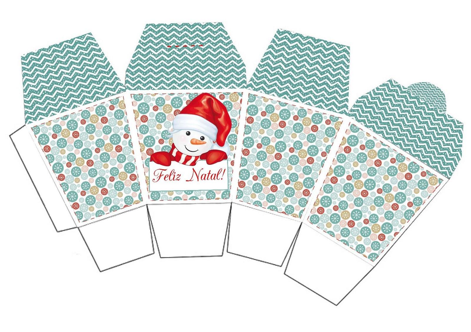 Bau Da Web Caixinhas De Natal Para Imprimir E Montar