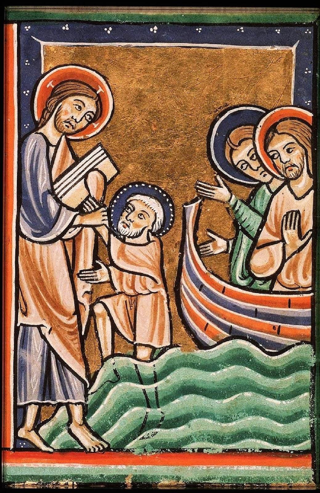 ad imaginem dei illustrating miracles walking on water