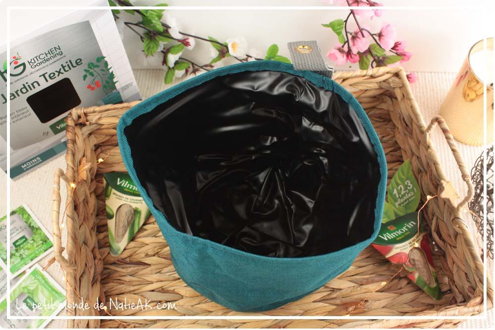 Jardin textile Vilmorin pot bleu 2 litres