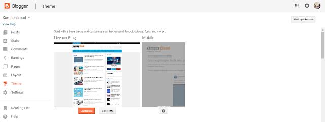 Backup template pada blog