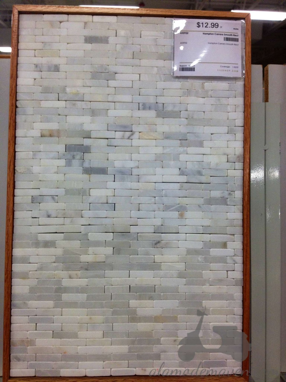 Carrera Marble Backsplash Mosaic