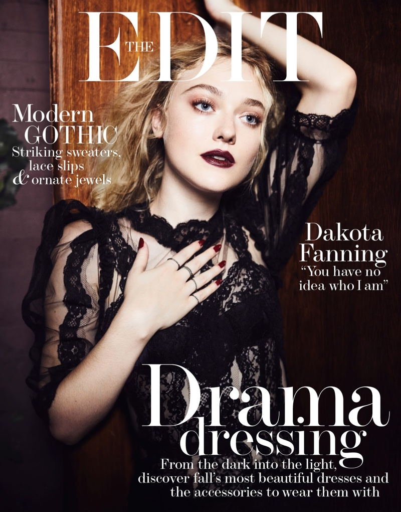 Dakota Fanning is gothic chic for The Edit