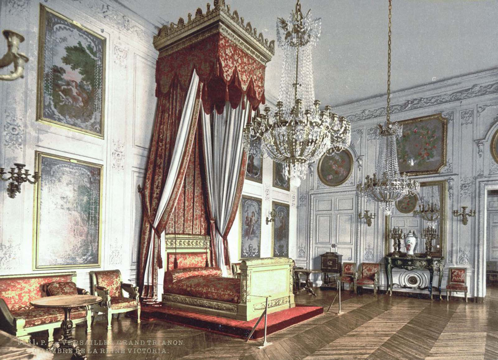 Grand Trianon, chamber of Queen Victoria, Versailles.